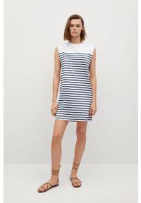 mango - Mango - Sukienka PICASA. Okazja: na co dzień. Kolor: biały. Materiał: bawełna. Typ sukienki: proste. Styl: casual
