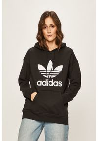 adidas Originals - Bluza. Kolor: czarny. Wzór: nadruk