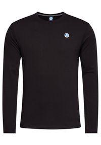 Czarna koszulka z długim rękawem North Sails