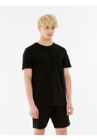 outhorn - T-shirt z nadrukiem męski. Okazja: na co dzień. Materiał: bawełna, jersey, dzianina, materiał. Wzór: nadruk. Styl: casual #4