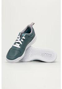 Szare buty sportowe Adidas na sznurówki, z cholewką