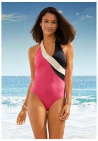 Kostium kąpielowy, przyjazny dla środowiska bonprix różowy. Kolor: różowy