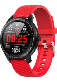 Czerwony zegarek WATCHMARK sportowy, smartwatch