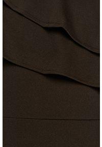 Czarna sukienka ANSWEAR na ramiączkach, z okrągłym kołnierzem, mini, dopasowana