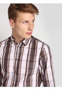 Szara koszula TOP SECRET na co dzień, długa