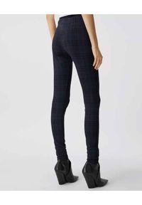 Burberry - BURBERRY - Granatowe legginsy w kratkę. Stan: podwyższony. Kolor: niebieski. Materiał: dzianina. Wzór: kratka. Styl: klasyczny #5