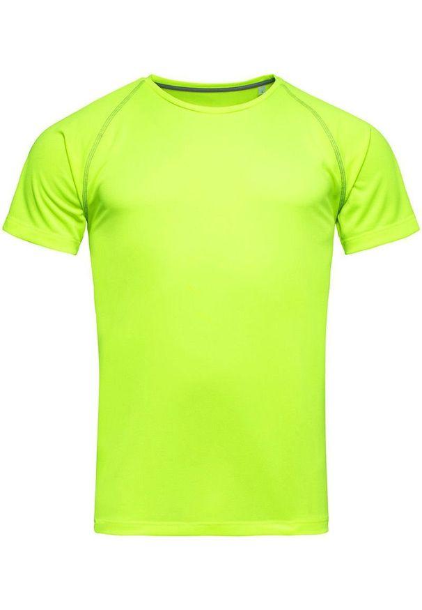 Stedman - Koszulka T-shirt, Żółta, Sportowa, ACTIVE-DRY Poliester, Raglanowe Rękawy, Jaskrawa. Kolor: żółty, wielokolorowy, złoty. Materiał: poliester. Długość rękawa: raglanowy rękaw. Styl: sportowy