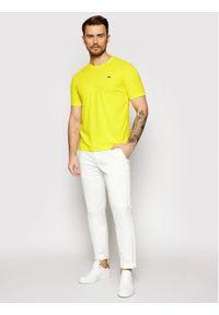 Lacoste T-Shirt TH7618 Żółty Regular Fit. Kolor: żółty #3