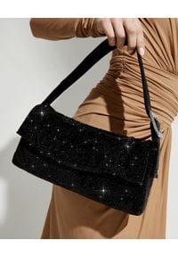 BENEDETTA BRUZZICHES - Kryształowa torebka Monique Large Jet Black. Kolor: czarny. Styl: klasyczny. Rodzaj torebki: na ramię