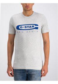G-Star RAW T-Shirt D15104-336-A302 Szary Regular Fit. Kolor: szary
