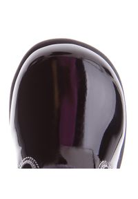 Czarne kozaki Nelli Blu z cholewką przed kolano, z aplikacjami, z cholewką #8