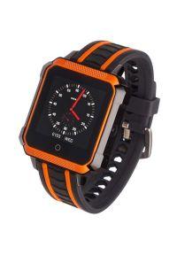 Pomarańczowy zegarek GARETT sportowy, smartwatch