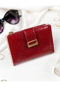 MILANO DESIGN - Portfel damski czerwony Milano Design K1210-SN-7206 RED. Kolor: czerwony. Materiał: skóra ekologiczna