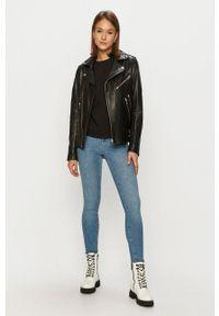 Wrangler - Bluza bawełniana. Kolor: czarny. Materiał: bawełna. Długość rękawa: długi rękaw. Długość: długie