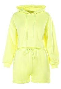 Born2be - Żółty 2-Częściowy Komplet Dresowy Sagosia. Kolor: żółty. Materiał: dresówka #2