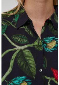 medicine - Medicine - Koszula Dark Blooms. Kolor: czarny. Materiał: tkanina. Długość rękawa: krótki rękaw. Długość: krótkie