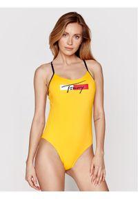 TOMMY HILFIGER - Tommy Hilfiger Strój kąpielowy Cheeky One-Piece UW0UW02945 Żółty. Kolor: żółty
