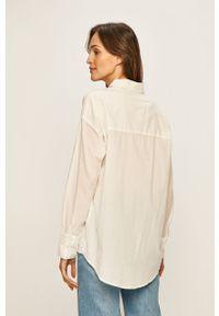 Biała koszula Vero Moda długa, z klasycznym kołnierzykiem