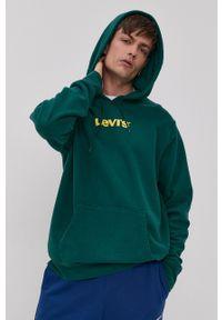 Levi's® - Levi's - Bluza bawełniana. Okazja: na co dzień, na spotkanie biznesowe. Kolor: zielony. Materiał: bawełna. Wzór: nadruk. Styl: biznesowy, casual