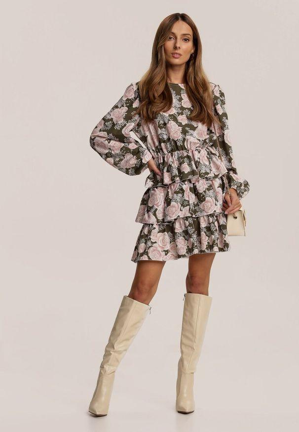 Brązowa sukienka mini Renee