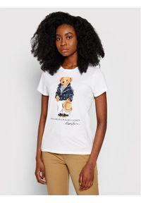 Polo Ralph Lauren T-Shirt Ssl 211827926001 Biały Regular Fit. Typ kołnierza: polo. Kolor: biały