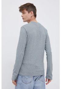 Superdry - Longsleeve bawełniany. Okazja: na co dzień. Kolor: szary. Materiał: bawełna. Długość rękawa: długi rękaw. Wzór: gładki. Styl: casual