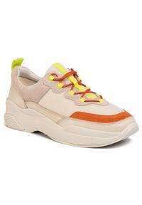 Beżowe buty sportowe vagabond z cholewką, na co dzień
