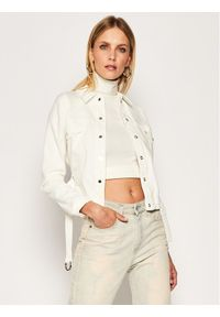 Biała kurtka jeansowa Patrizia Pepe