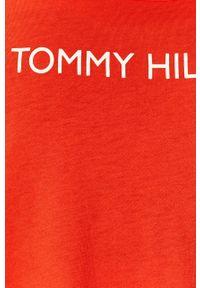Czerwona sukienka TOMMY HILFIGER z nadrukiem, mini
