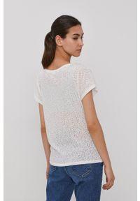 Protest - T-shirt. Kolor: biały. Materiał: dzianina