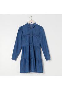 Sinsay - Sukienka babydoll - Niebieski. Kolor: niebieski
