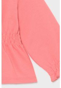 Różowa bluza rozpinana Mayoral z kapturem, gładkie