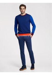 Vistula Spodnie materiałowe Malcolm XA0868 Granatowy Regular Fit. Kolor: niebieski. Materiał: materiał