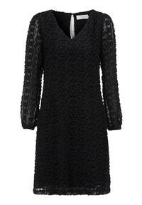 Czarna sukienka Cream elegancka, z dekoltem w serek