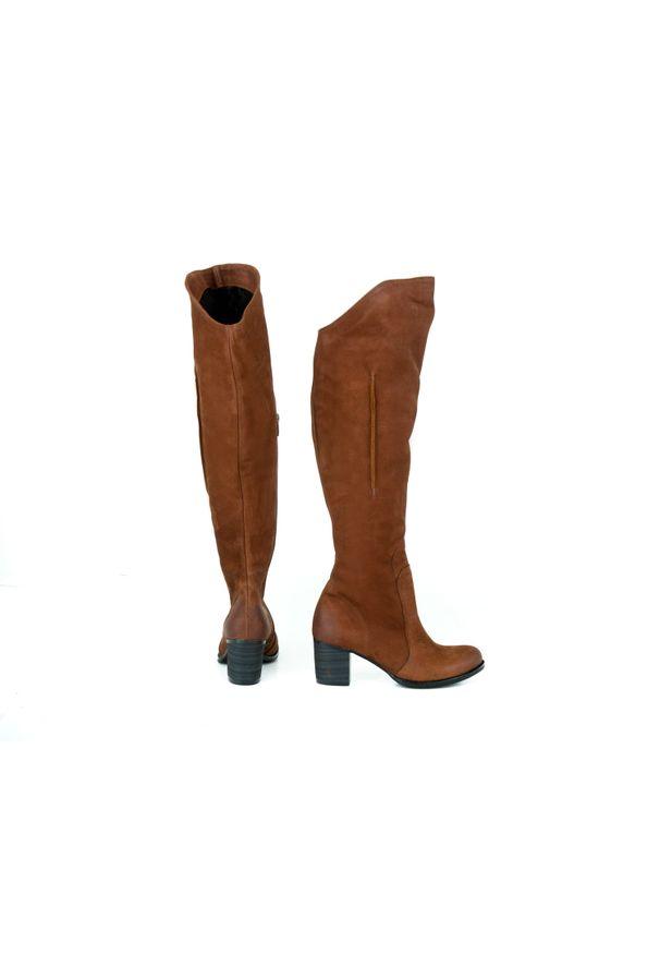 Kozaki Zapato wąskie, w kolorowe wzory, z cholewką za kolano
