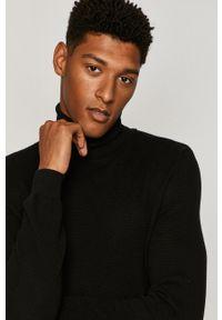 Czarny sweter medicine długi, z długim rękawem, casualowy, na co dzień