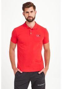 Koszulka polo EA7 Emporio Armani sportowa, polo, w kolorowe wzory