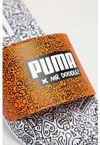 Brązowe klapki Puma bez obcasa
