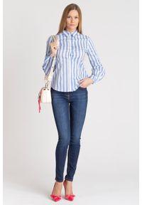 Trussardi Jeans - KOSZULA SLIM FIT TRUSSARDI JEANS. Materiał: materiał. Styl: sportowy, elegancki