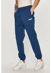 Niebieskie spodnie dresowe Prosto. z nadrukiem