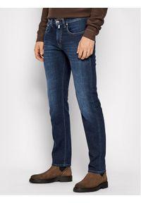 Pierre Cardin Jeansy 30031/000/1502 Granatowy Slim Fit. Kolor: niebieski. Materiał: jeans