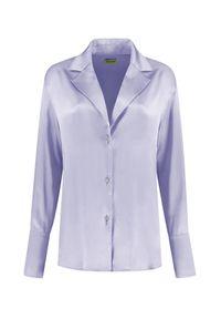 GAUGE81 - Liliowa koszula Oda. Okazja: na co dzień. Kolor: fioletowy, różowy, wielokolorowy. Materiał: jedwab. Styl: klasyczny, elegancki, casual