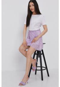 Haily's - Spódnica. Kolor: fioletowy. Materiał: tkanina
