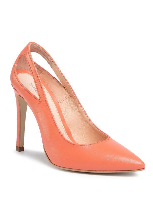 Pomarańczowe półbuty Baldaccini na średnim obcasie, eleganckie, na szpilce