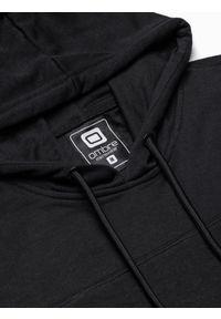 Ombre Clothing - Bluza męska z kapturem B1084 - czarna - XXL. Typ kołnierza: kaptur. Kolor: czarny. Materiał: bawełna, poliester