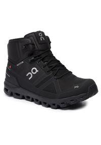 Czarne buty trekkingowe On z cholewką, trekkingowe