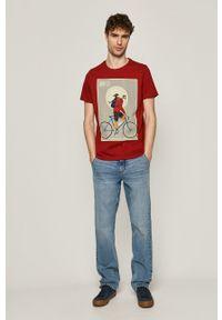 medicine - Medicine - T-shirt Retro Cool. Kolor: pomarańczowy. Materiał: bawełna, dzianina. Wzór: nadruk. Styl: retro