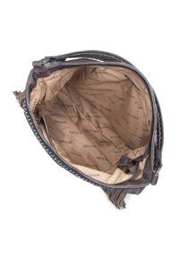 Brązowa torebka worek Wittchen boho, na jesień
