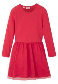 Czerwona sukienka bonprix z długim rękawem, na zimę