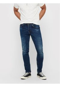 Only & Sons - ONLY & SONS Jeansy Weft 22005076 Granatowy Regular Fit. Kolor: niebieski